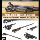 "HOWA M1500 BARRELED ACTION 308WIN BLUE STANDARD BARREL 22"" THREADED"