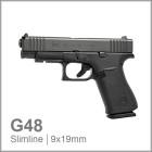 GLOCK 48 - SLIMLINE - BLACK R/FS