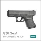 GLOCK 30 Gen4 - .45ACP
