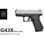 GLOCK 43X Silver - SLIMLINE