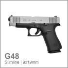 GLOCK 48 Silver - SLIMLINE - 9mm